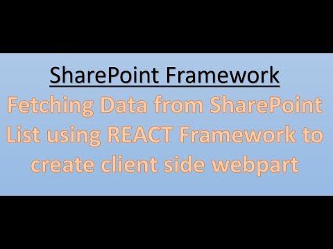 SharePoint Framework : Fetch items from sharepoint list using React  Framework