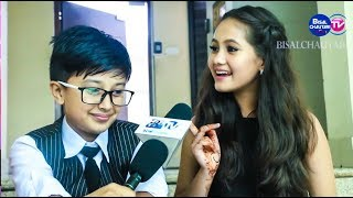 FUNNY GAME 😀 || Anubhav Regmi And Sedrina Sharma Interview - bisalchautari tv