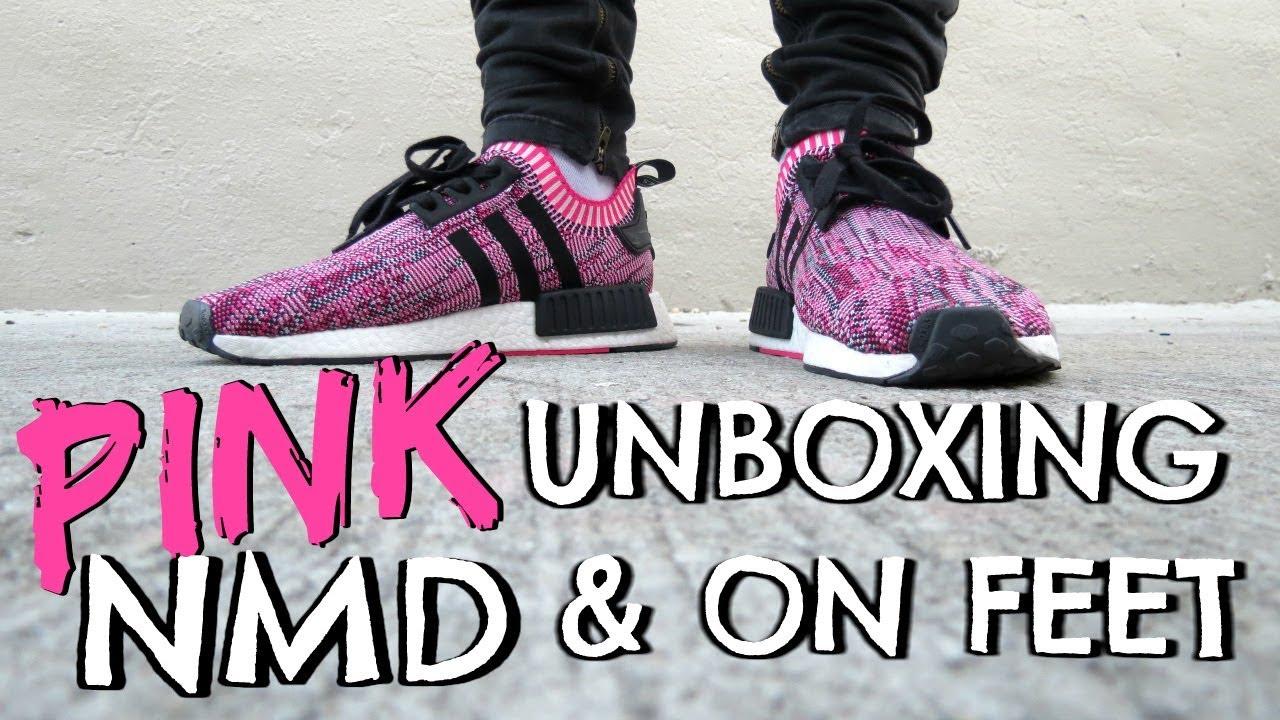 NMD R1 Primeknit in Shock Pink-Core