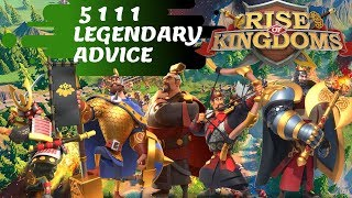 5 1 1 1 LEGENDARY YES/NO ? HOW, WHEN and WHERE! - Rise of Kingdoms