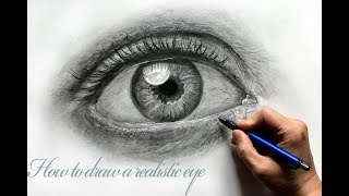 How to Draw Hyper Realistic Eyes-Step by Step