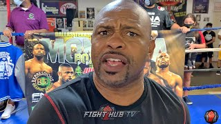 "ROY JONES JR. WARNS ""CRAZY"" MIKE TYSON ""IMA DO SOMETHING CRAZY BACK!"" IF HE TRIES TO BITE EAR OFF"