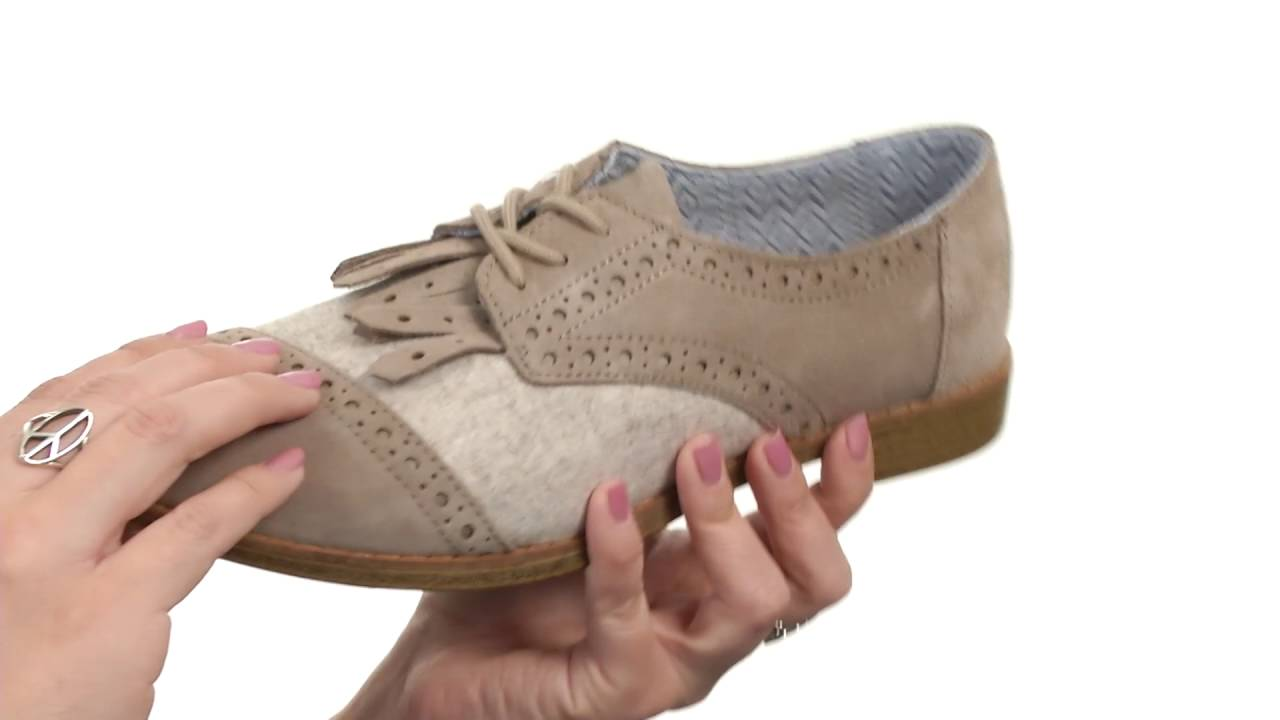 eac34c576a6 TOMS Brogue Dress Lace-Up SKU 8707193 - YouTube