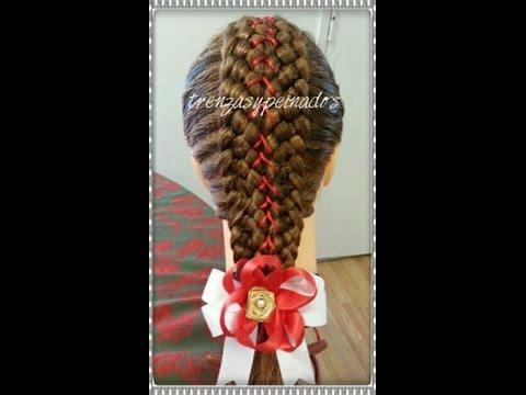 Trenzas para ni a de navidad holiday braids for girls - Trenzas para nina ...