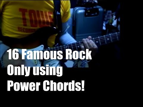 16 famous rock using only power chords! パワーコードメドレー【洋楽編】