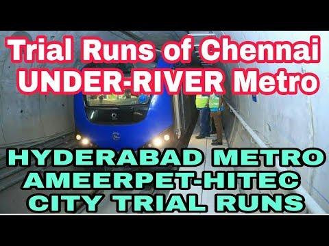 Chennai Metro Under-river Metro Trials, Hyderabad Metro Trials To Hitec City, Jayadeva Flyover Razed