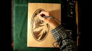 Woodburning Mizzou Logo.wmv