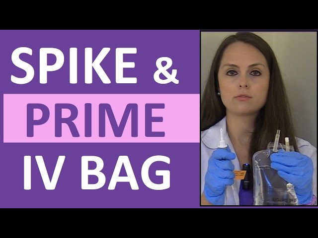 How to Prime IV Tubing Line | How to Spike a IV Bag for Nursing