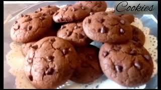 Recette des cookies 🍪 aux pépites de chocolat# كوكيز بحبيبات الشوكولاته هشيش وجد ناجح