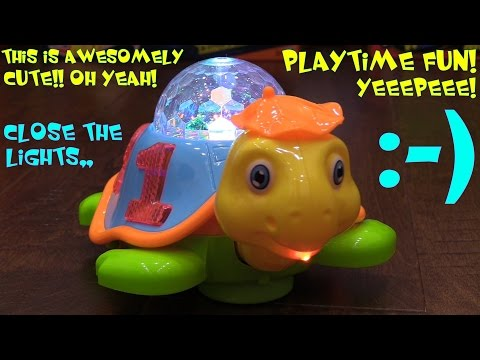 Toddler's Toys: A Very Cute Sea Animal Turtle Bump & Go Toy w/ Lights and Music Playtime