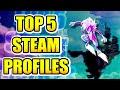 #6: TOP 5 STEAM PROFILES - TOP ARTWORK STEAM, BEST DESIGNS, BEST ANIMATIONS