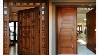 Latest wood main door collections for modern homes