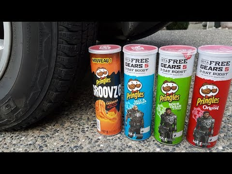 EXPERIMENT: Pringles Vs. Car - Crushing Things By Car