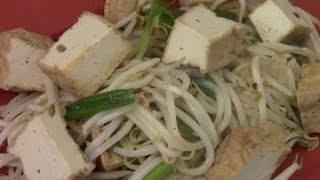 How To Make Chinese Stir Fry Bean Sprout With Tofu (vegan, wheat and gluten free)