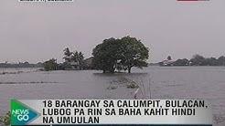 NTG: 18 barangay sa Calumpit, Bulacan, lubog pa rin sa baha kahit hindi na umuulan