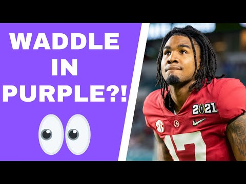 Will Jaylen Waddle fall to Minnesota Vikings at the NFL Draft?