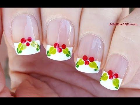 Mistletoe christmas french manicure nail art youtube mistletoe christmas french manicure nail art prinsesfo Choice Image
