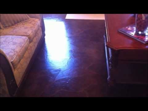 How I used brown shipping paper as Flooring!!