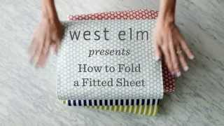 How To Fold A Fitted Sheet The Easy Way   west elm