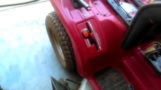 How to change the hydrostatic transmission fluid in a Honda 4518 riding mower