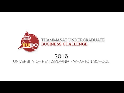 TUBC 2016 Team Introduction - University of Pennsylvania - Wharton School