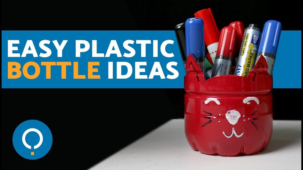Easy DIY Plastic Bottle Crafts For Kids Adults