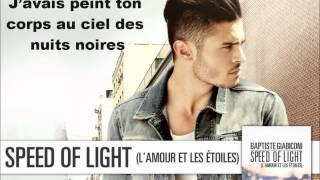 Baptiste Giabiconi - Speed of Light (L'amour et les étoiles) [Lyrics]