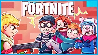 *TRAPPED* in a 1x1 with a NOOB in Fortnite: Battle Royale! (Fortnite Funny Moments & Fails)