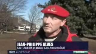 Mobilisation des salariés d'Aubert et Duval du 4 février 2009.