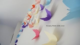 Diy How To Make Beautiful, Cheap And Easy, 3d Wall Decoration With Butterflies