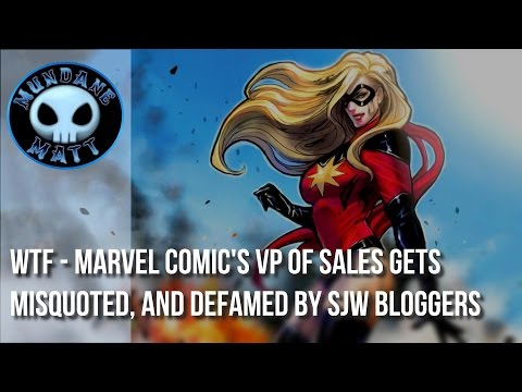 [Comics] WTF - Marvel Comic's VP of Sales gets misquoted, and defamed by SJW bloggers