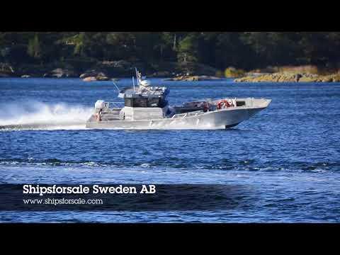 Shipsforsale Sweden Fast aluminium deck cargo work boat, 33 knots.