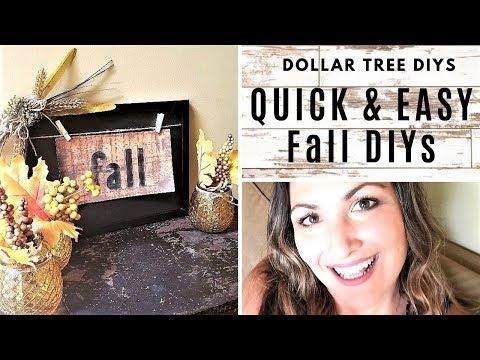 DOLLAR TREE FALL DIYs - Quick & Easy Fall Crafts