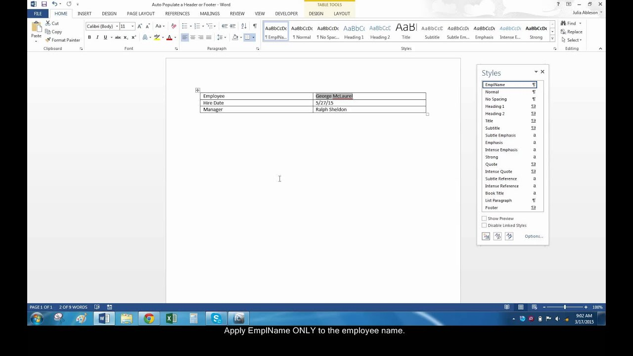 how to add speak to word