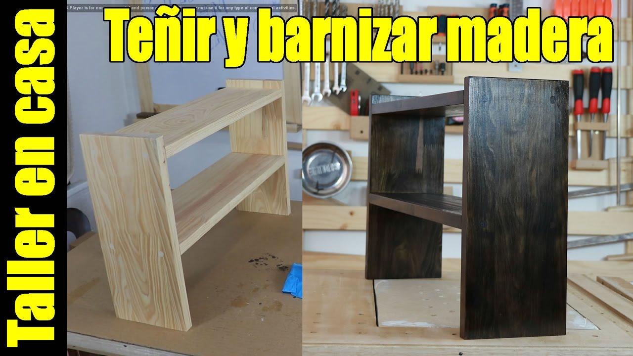 Teñir y barnizar madera con esponja de lavar platos - YouTube