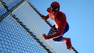 The Amazing Spider-Man in San Diego - Real Life Parkour Stunts | DoubleAVideo