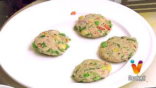 Oats Patties Snack recipe – Tiffin Box  11-09-2017 Putham Puthu Kaalai Vendhar tv Show – Episode 1107