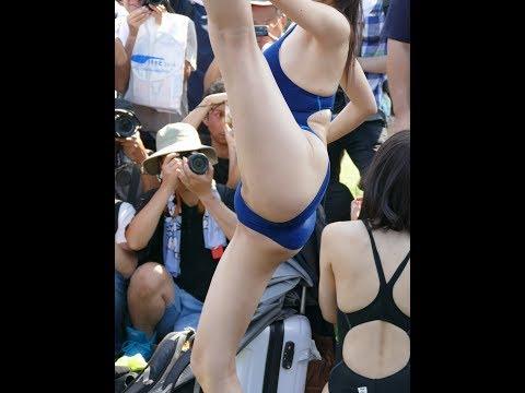 身長170cmグラドル 稲森美優 競泳水着
