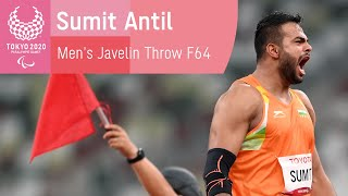 🇮🇳 India's Sumit Anтil Breaks World Record THREE Times & Wins Gold | Tokyo 2020 Paralympic Games