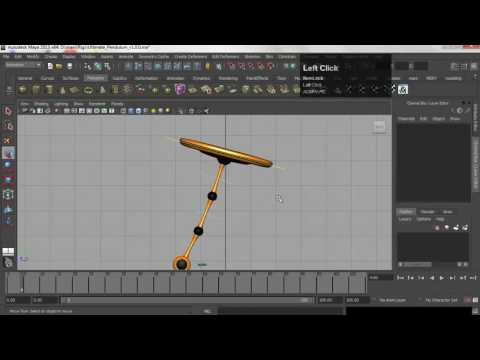 Autodesk Maya 3D Animation Pendulum and Ball