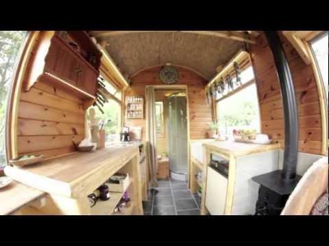 Bathroom Yurt kitchen and bathroom wagon - yurt ensuit. tiny home - youtube