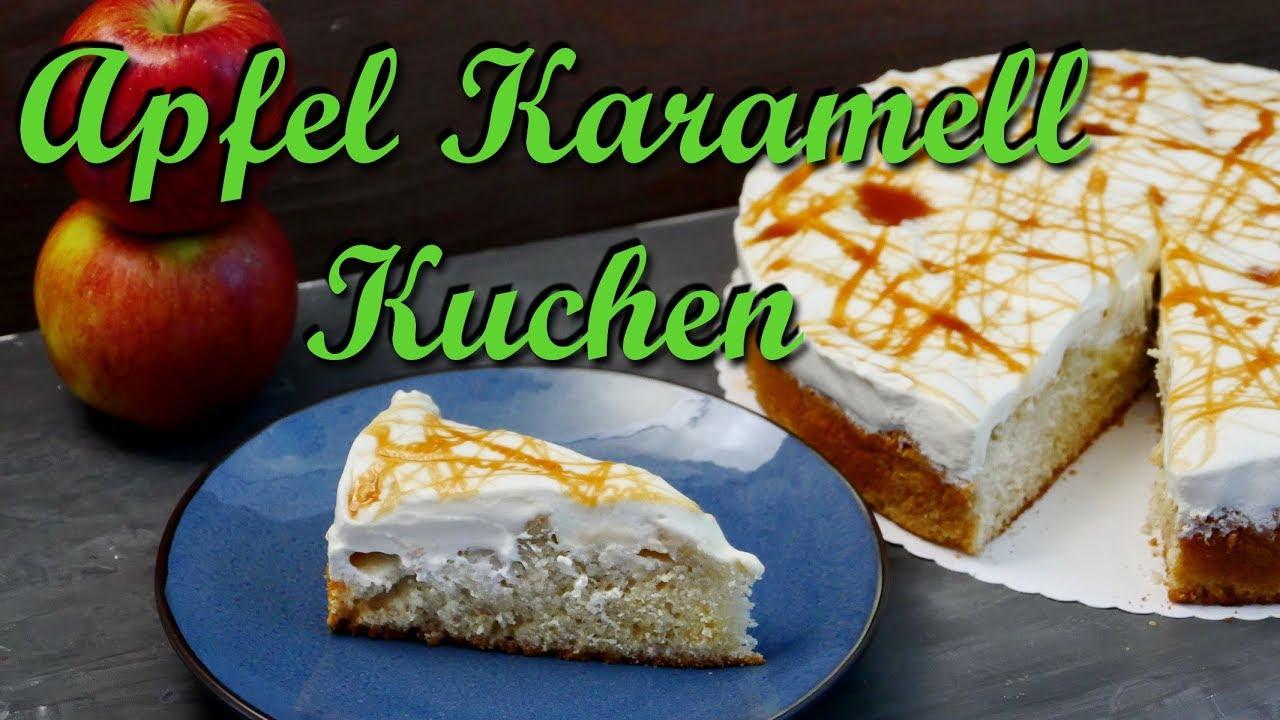 Apfel Karamell Kuchen Backen Apfelkuchen Mit Schmand Und Karamell