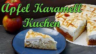 APFEL KARAMELL KUCHEN BACKEN | Apfelkuchen mit Schmand und Karamell selber machen
