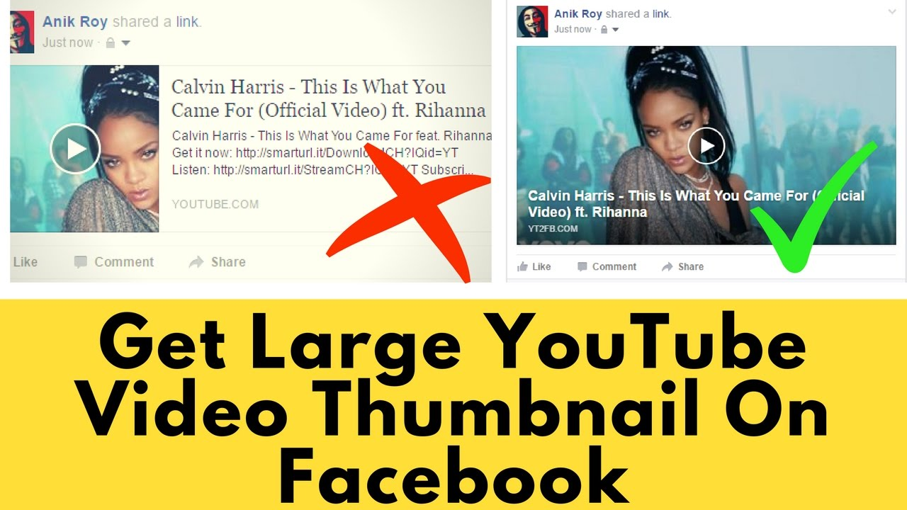 [Solved]How To Make YouTube Video Looks Bigger On Facebook (Large Video  Thumbnail)