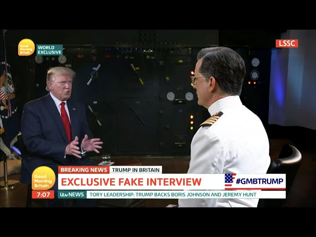 Stephen Colbert Interviews Piers Morgans Interview Of President Trump