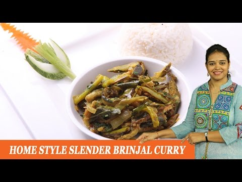 HOME STYLE SLENDER BRINJAL CURRY - Mrs Vahchef
