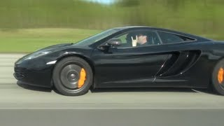 McLaren MP4-12C  vs Ferrari 458 Italia: 625 HP vs 570 HP x 2 races: GTBOARD.com real races!