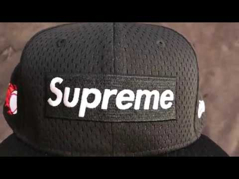 cc831952212 Supreme Mesh Box Logo New Era® - Black - YouTube