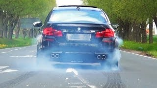 Bmw M5 F10 Sound V8 Biturbo Acceleration Tire Smoke Kickdown Exhaust Beschleunigung Full Throttle