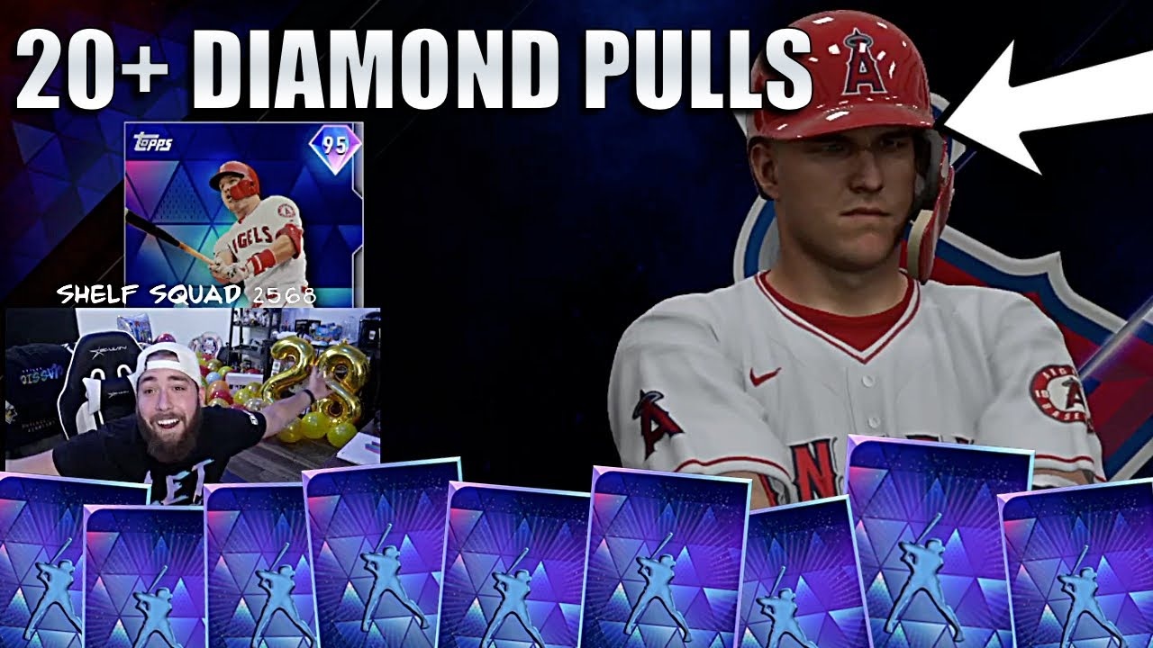 GREATEST MLB PACK OPENING EVER! 20+ DIAMONDS! MLB THE SHOW 20 STREAM HIGHLIGHTS!